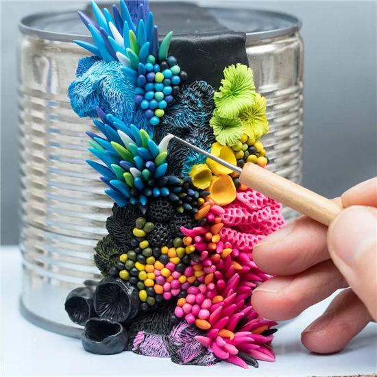 生命的颂歌,她将废物变成有创意的艺术品