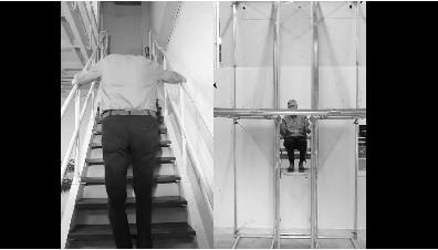 """荷兰小伙造了个""""升降梯"""",不用油不用电,手脚会动就能上楼"""