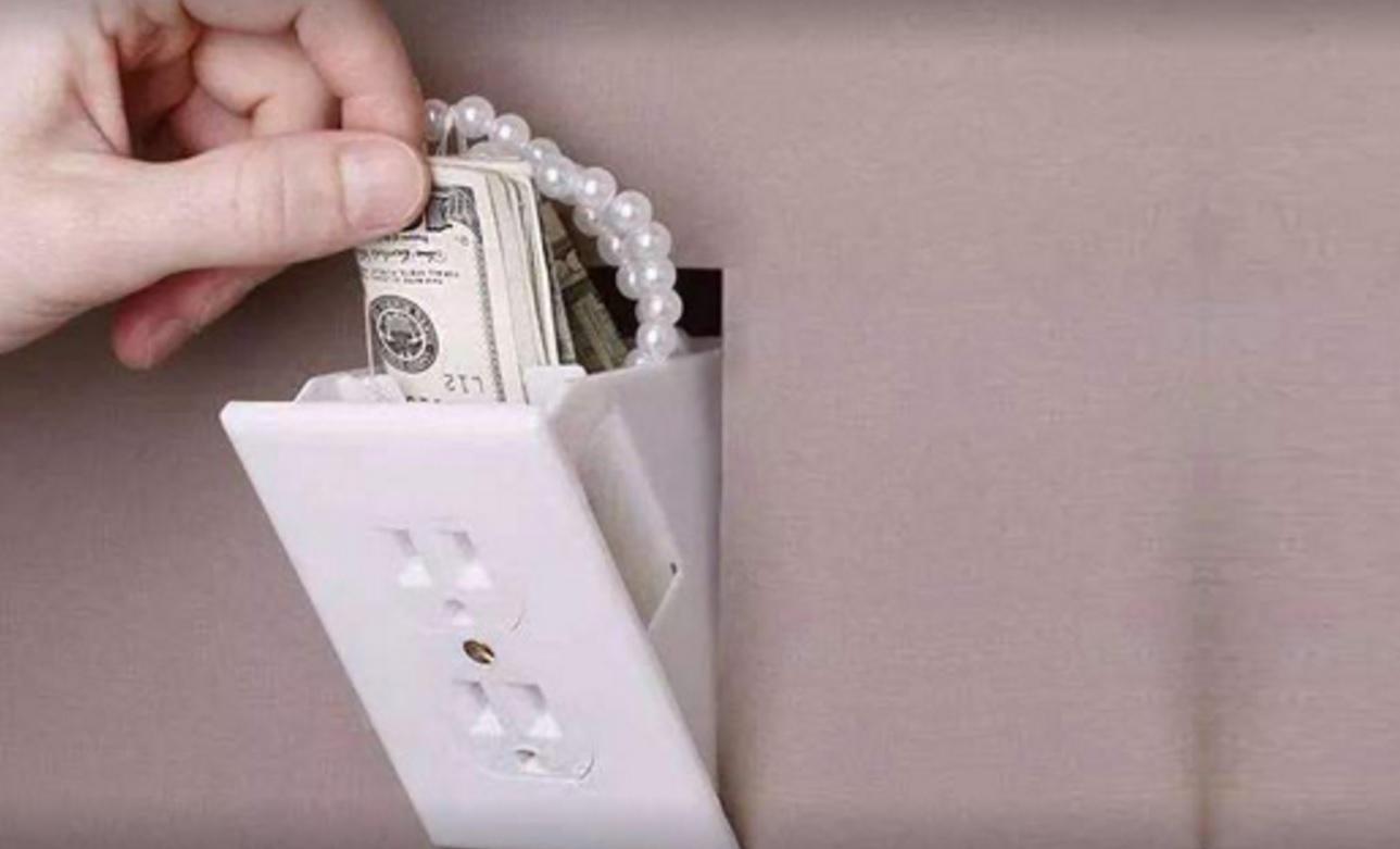 隐藏在插座里的保险箱,防盗效果扛扛的
