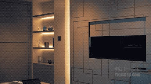 隐藏在床底下的电视机,可自动伸展和收回