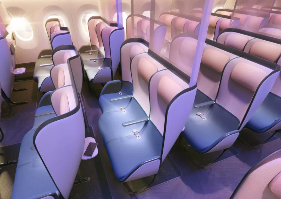 为了防疫 英国公司设计了一款变色座椅