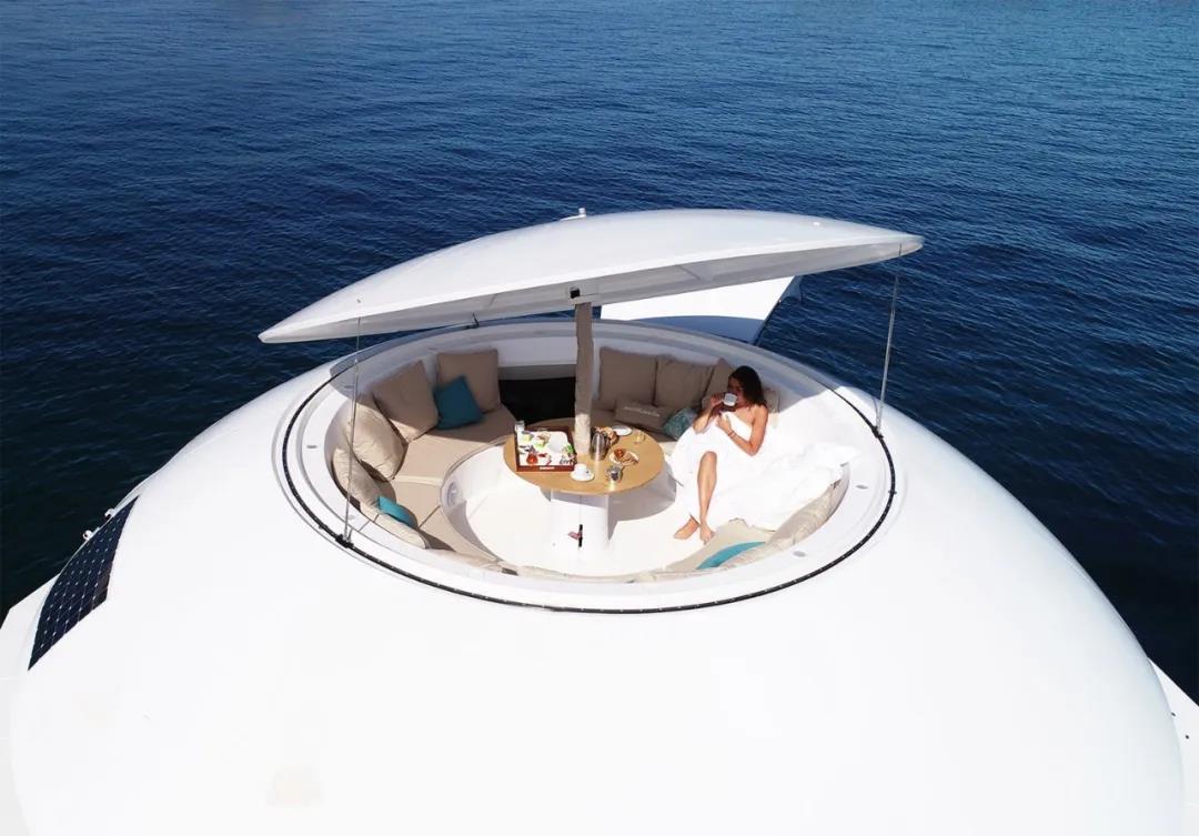 漂浮在海上的酒店套房,360°无死角海景