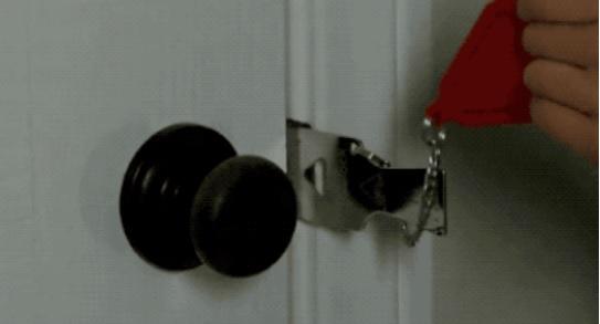 【便携门安全锁扣】门外有钥匙也无法打开只能门内打开